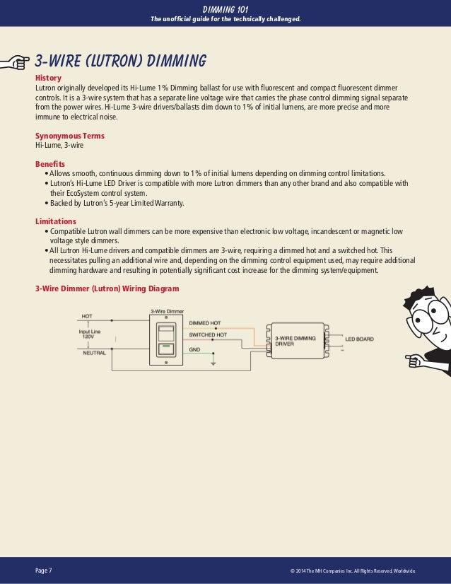 3 Wire Lutron Fluorescent Dimmer - Wiring Diagram