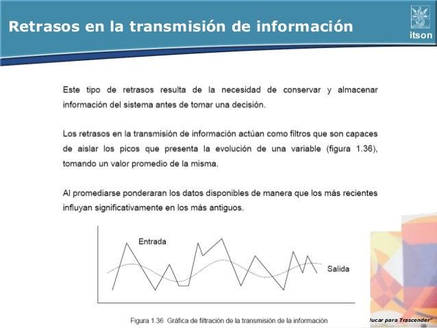 """Retrasos en la transmisión de información                      itson                                       ITSON - """"Educar..."""