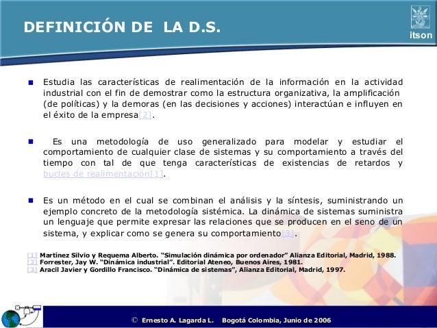 DEFINICIÓN DE LA D.S.                                                                                              itson  ...
