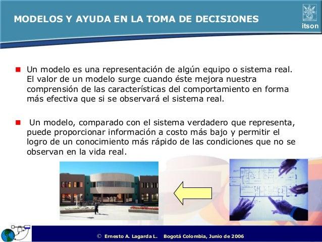 MODELOS Y AYUDA EN LA TOMA DE DECISIONES                                                                                  ...