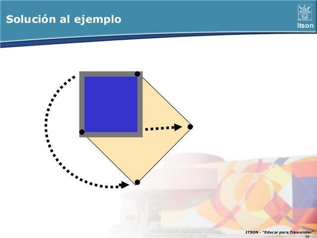 """Solución al ejemplo                           itson                      ITSON - """"Educar para Trascender"""""""