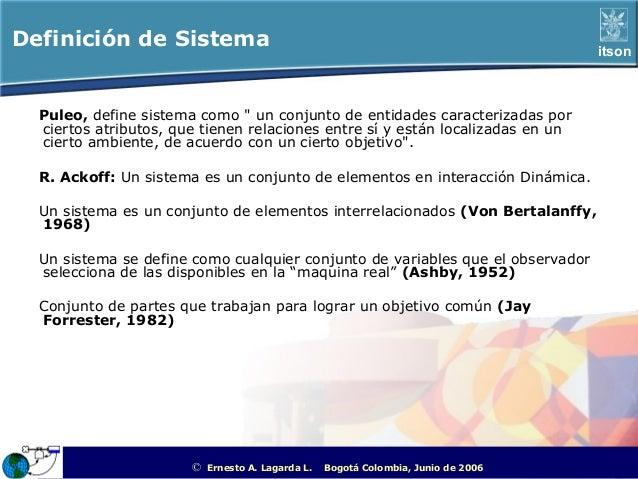 Definición de Sistema                                                                                       itson  Puleo, ...