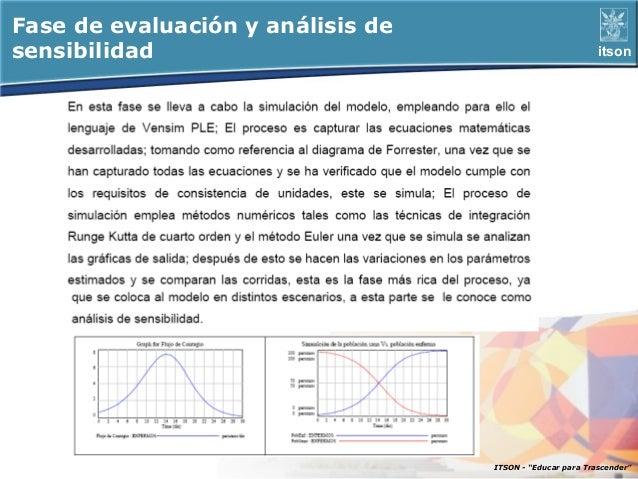 Fase de evaluación y análisis desensibilidad                                               itson                          ...
