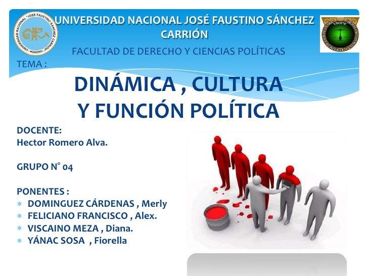 UNIVERSIDAD NACIONAL JOSÉ FAUSTINO SÁNCHEZ                          CARRIÓN           FACULTAD DE DERECHO Y CIENCIAS POLÍT...