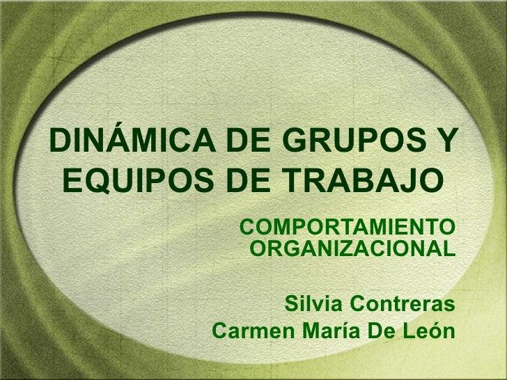 DINÁMICA DE GRUPOS Y EQUIPOS DE TRABAJO         COMPORTAMIENTO          ORGANIZACIONAL            Silvia Contreras       C...
