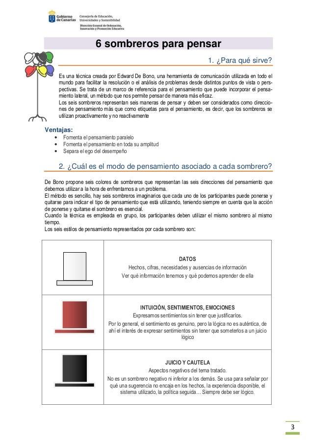 45) · Pasar a la acción  3. 3 6 sombreros ... 6debfcc7b81