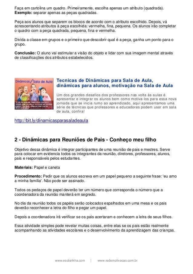 Well-known Dinamicas para-professores-esoterikha.com-redemotivacao.com.br GU47