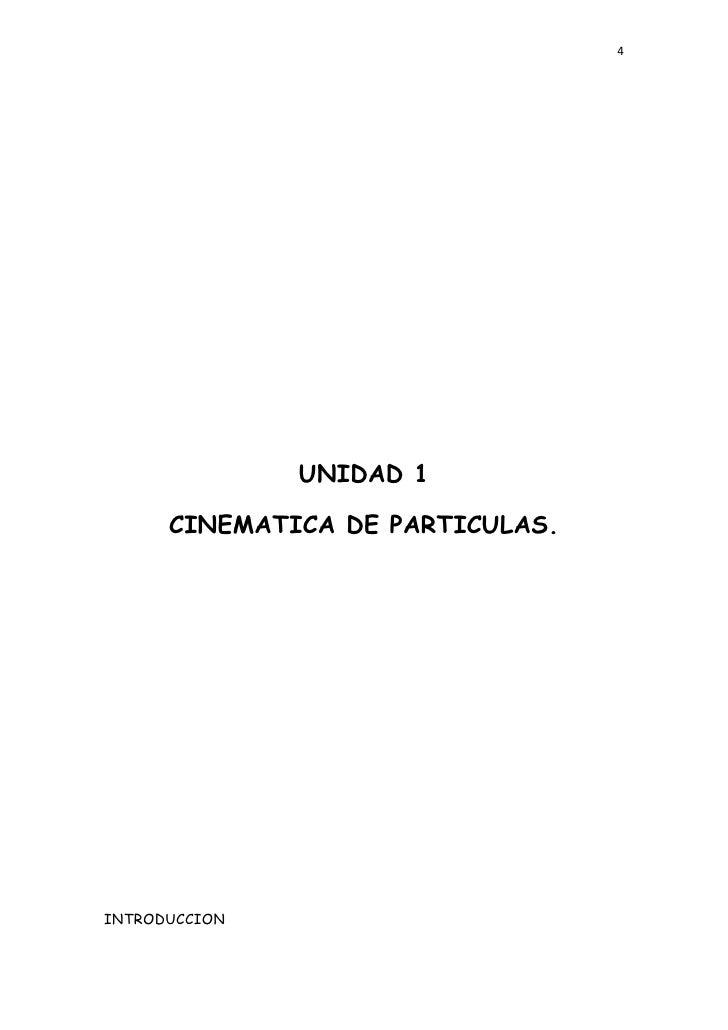 4               UNIDAD 1      CINEMATICA DE PARTICULAS.INTRODUCCION