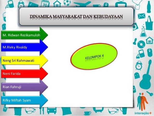 DINAMIKA MASYARAKAT DAN KEBUDAYAAN Neni Farida Neng Sri Rahmawati M. Ridwan Rezikamuloh M.Rivky Rivaldy Rifky Miftah Syam ...