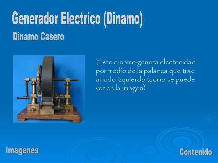 Dinamo - Generador de electricidad ...