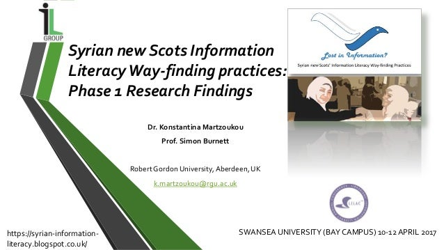 Dr. Konstantina Martzoukou Prof. Simon Burnett Robert Gordon University, Aberdeen, UK k.martzoukou@rgu.ac.uk Syrian new Sc...