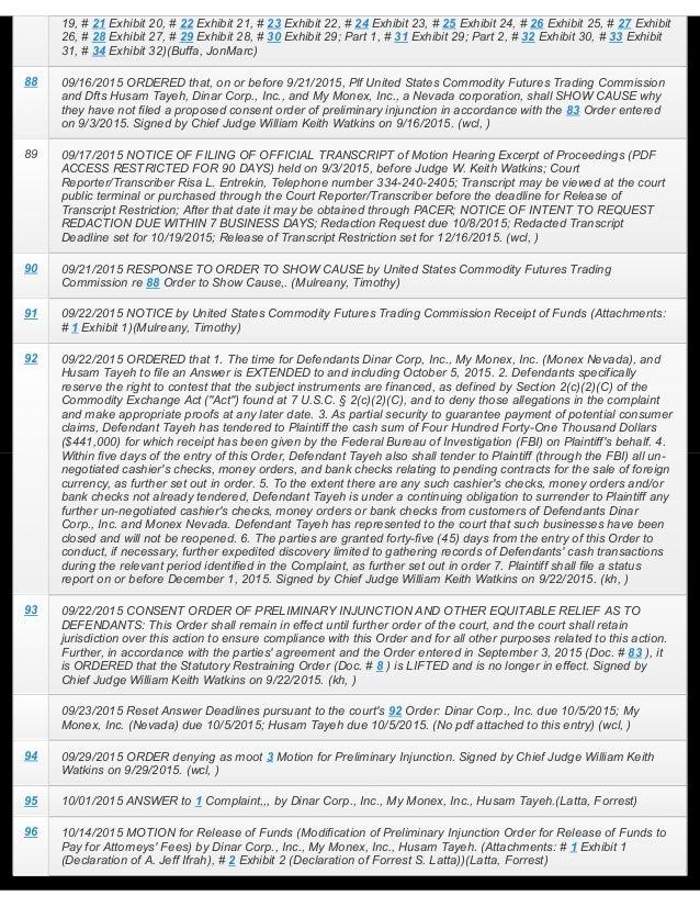 Inc.,HusamTayeh.(Attachments:#1AffidavitDeclarationofJeffIfrah)(Latta,Forrest) 12/23/2015RESPONSEinOppositio...