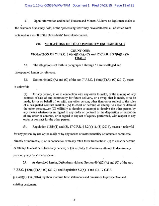 (3), 17 C.F.R. § 5.2(b)(1), (3) (2014). Tayeh is therefore liable for the violations of DCI and Monex NV pursuant to Secti...