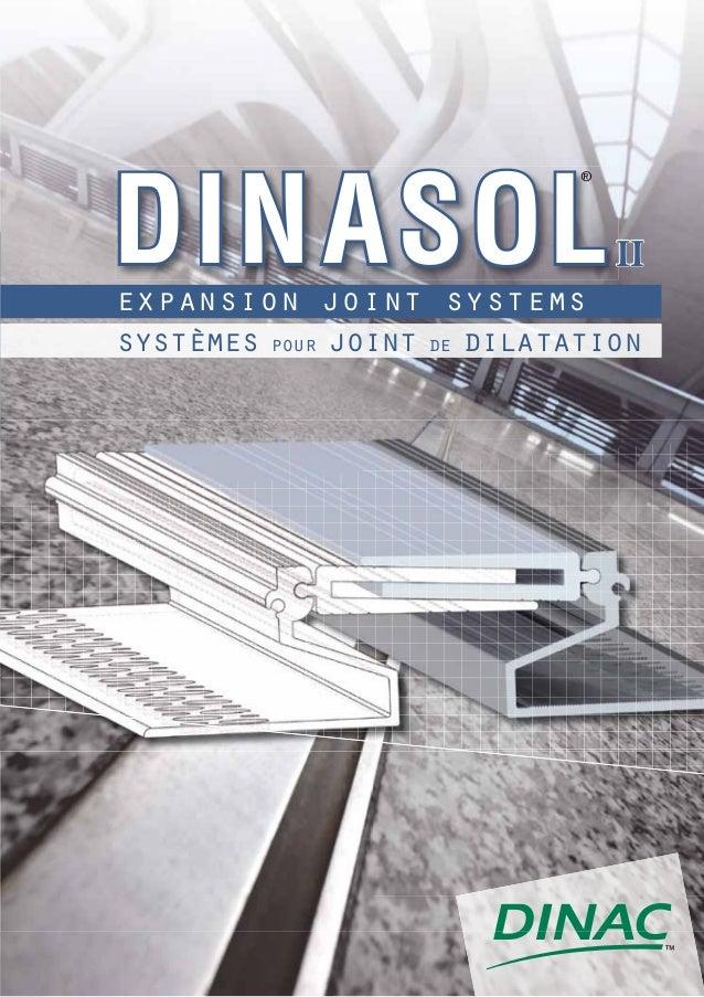 DIN ASOL                             ®                                 IIexpansion joint systemssystèmes pour joint de dil...