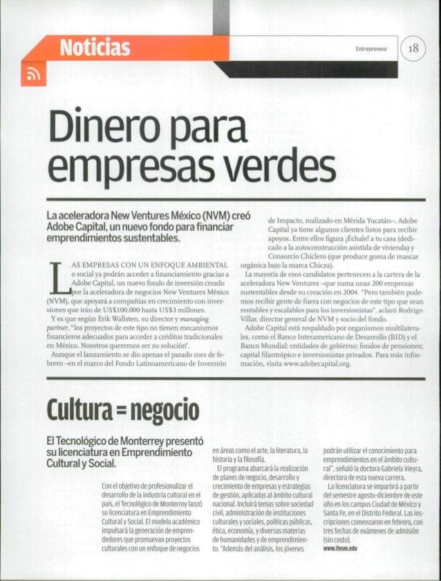 x-^xDinero paraempresas verdesLa aceleradora New Ventures México (NVM) creó                                       de Impac...