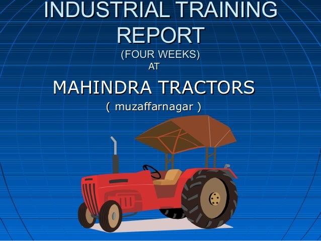 project on mahindra mahindra ltd swaraj division Punjab tractors ltd this is punjab tractors limited swaraj tractors ( mahindra & mahindra) research and development centre p.
