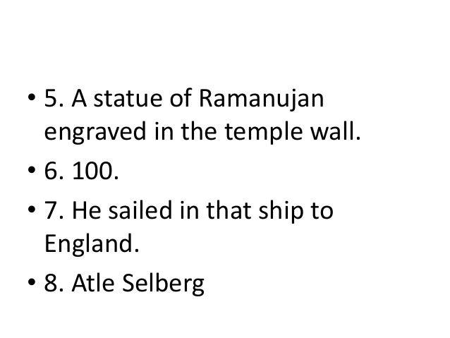 "A note on ""Mathematics Genius Srinivasa Ramanujan, FRS"""