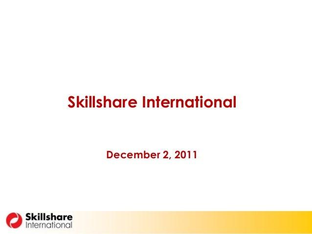 Skillshare International December 2, 2011
