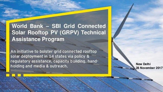 World Bank Sbi Grid Connected Solar Rooftop Pv Grpv Technical Assi
