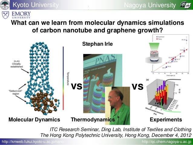 What can we learn from molecular dynamics simulations of carbon nanotube and graphene growth? Stephan Irle Kyoto Universit...