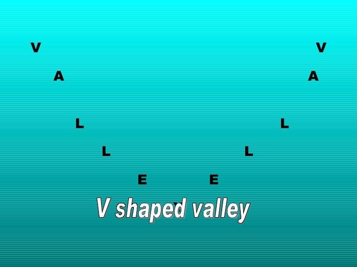 V V A   A   L L L L E E Y V shaped valley