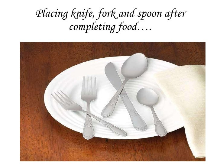 Placing Knife, Fork And Spoon After Completing Foodu2026