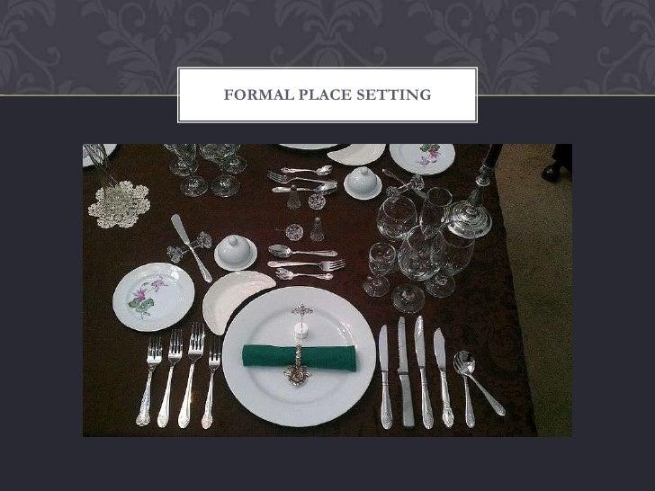 Dining Etiquette Workshop Ppt