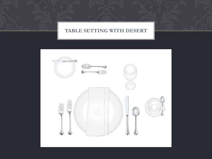 FORMAL PLACE SETTING 8 TABLE