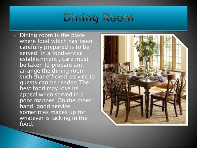 Dining Room Preparation
