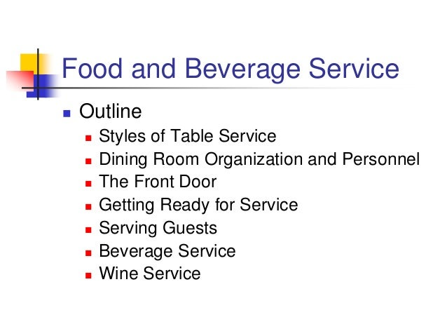 food and beverage service outline styles of table service dining