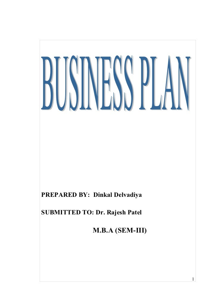 Dinkal business plan