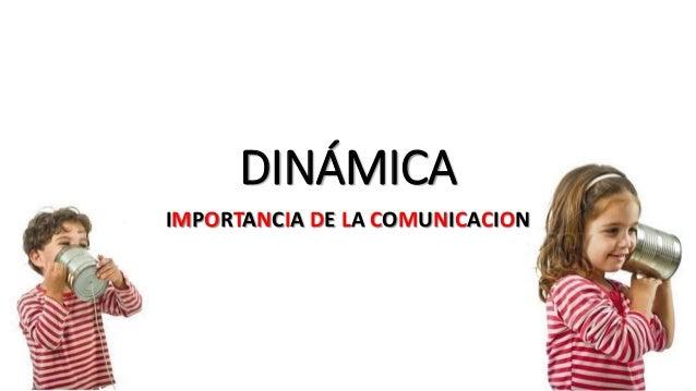 DINÁMICA IMPORTANCIA DE LA COMUNICACION