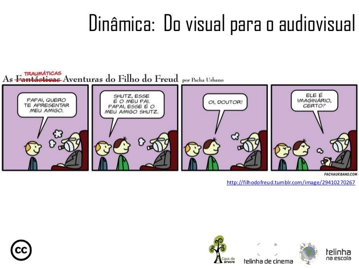 Dinâmica: Do visual para o audiovisual                   http://filhodofreud.tumblr.com/image/29410270267