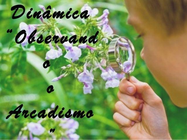 """Dinâmica""""ObservandooArcadismo"""