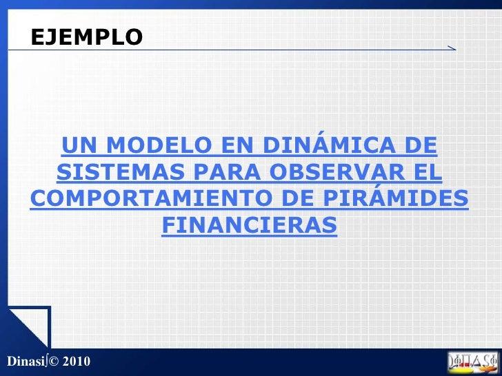EJEMPLO<br />UN MODELO EN DINÁMICA DE SISTEMAS PARA OBSERVAR EL COMPORTAMIENTO DE PIRÁMIDES FINANCIERAS<br />