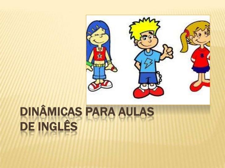 Top Dinâmica para aulas de inglês IY81