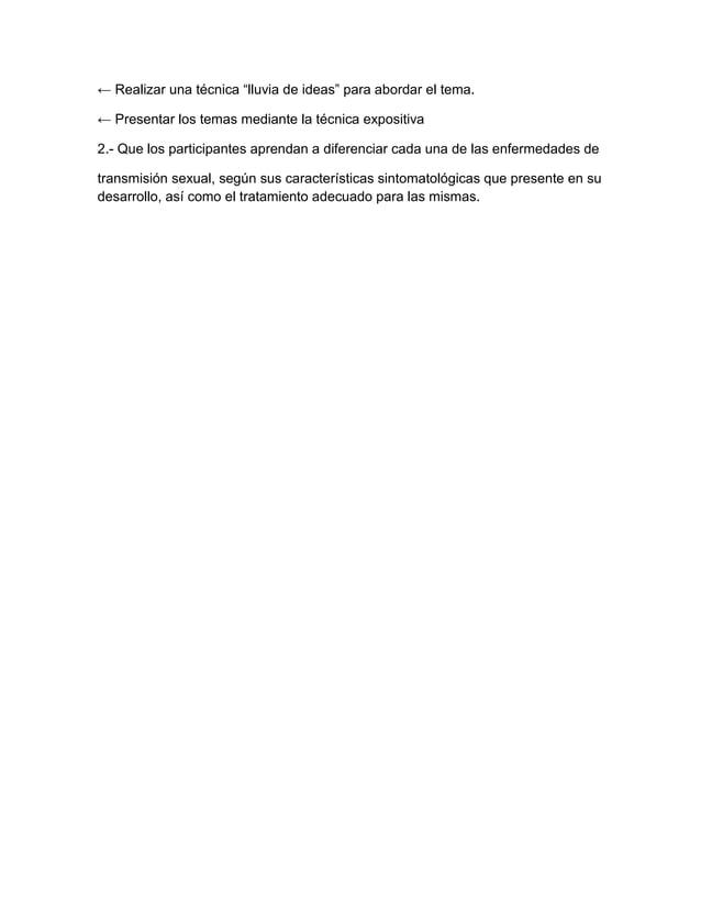 """← Realizar una técnica """"lluvia de ideas"""" para abordar el tema. ← Presentar los temas mediante la técnica expositiva 2.- Qu..."""