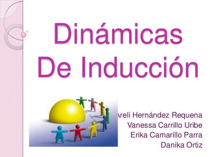 DinámicasDe Inducción     Areli Hernández Requena        Vanessa Carrillo Uribe          Erika Camarillo Parra            ...