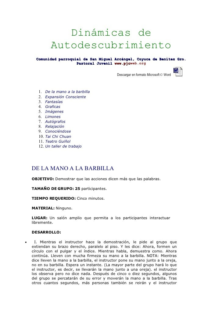Dinámicas de               Autodescubrimiento       Comunidad parroquial de San Miguel Arcángel, Coyuca de Benítez Gro.   ...