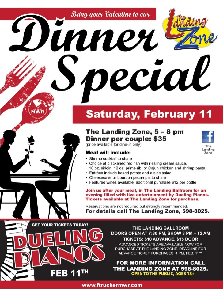 Dinner special-with-dueling-pianos