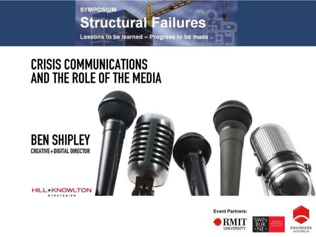 Crisis communications and the role of the media