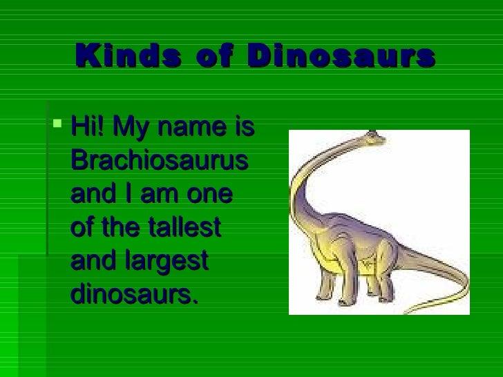 Dinosaur Facts Ppt