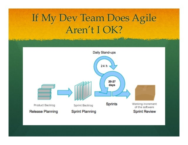 If My Dev Team Does AgileAren't I OK?