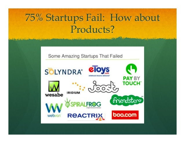 75% Startups Fail: How aboutProducts?