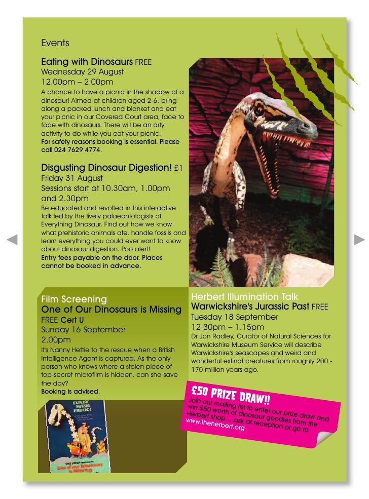 Dinosaurs Uncovered @ The Herbert Art Gallery &