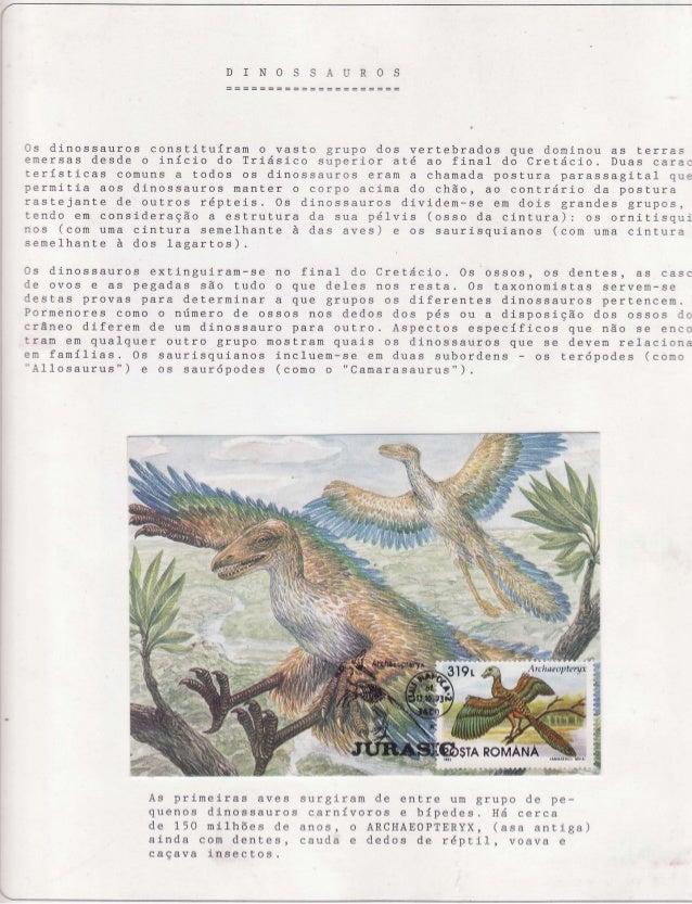 (  D ]N O  U R OS  0s d i n o s s aur os c o n s ti tu íra rn grupo o vasto dos vertebrados que domi nou as t . er r as em...