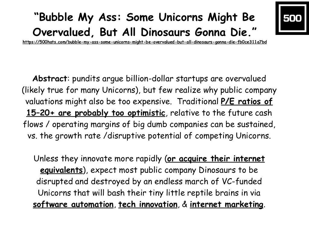 """Bubble My Ass: Some Unicorns"