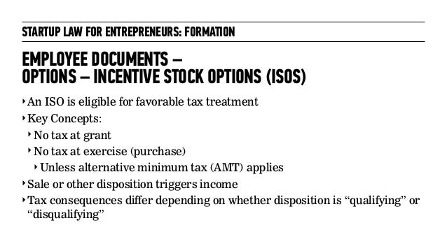 Incentive stock options qualifying disposition