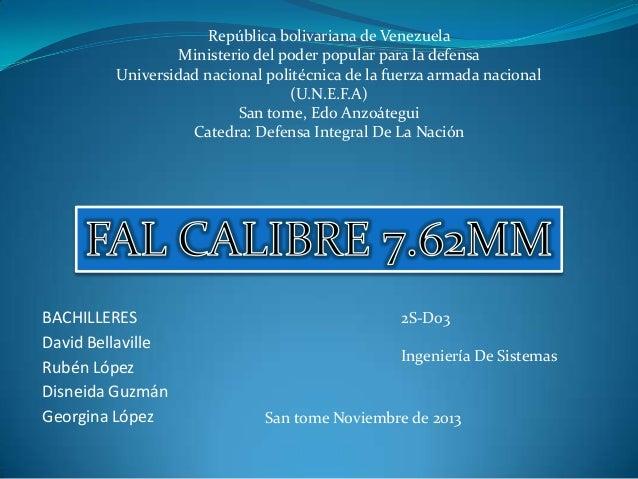 República bolivariana de Venezuela Ministerio del poder popular para la defensa Universidad nacional politécnica de la fue...