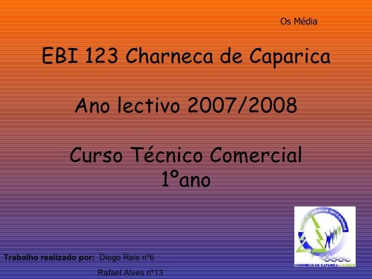 EBI 123 Charneca de Caparica Ano lectivo 2007/2008 Curso Técnico Comercial 1ºano Trabalho realizado por:   Diogo Reis nº6 ...